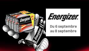Energizer- Du 6 septembre au 8 septembre