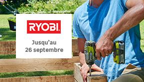 Ryobi - Jusqu'au 26 septembre